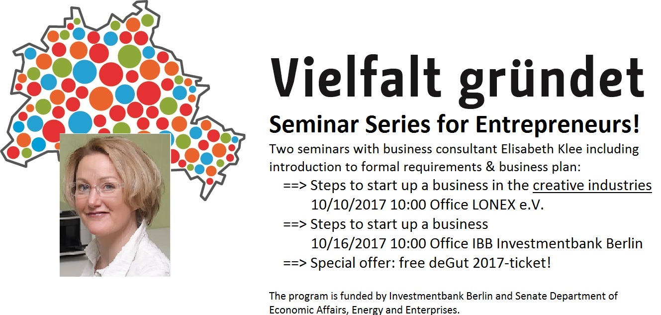 Vielfalt Gründet diversity business start up Foto Seminar series 2017